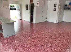 mcaleer-epoxy-garage-floor-spanish-fort-alabama-alabama-crimson-tide-theme-roll-tide